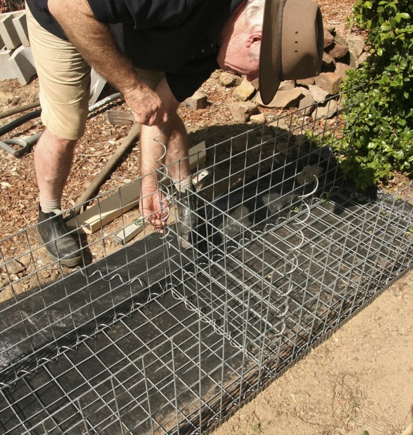 Gardendrum Cstewart 8 Gabion Wall Inserting The Centre