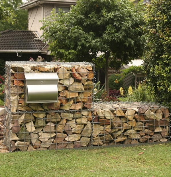 Gardendrum Cstewart Sandstone Gabion Wall With Steel
