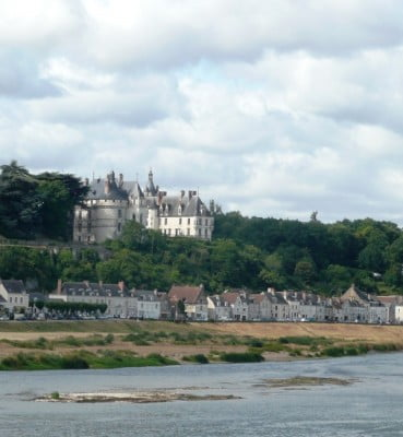 Picturesque Chaumont sur Loire, dominated by the Chateau de Chaumont