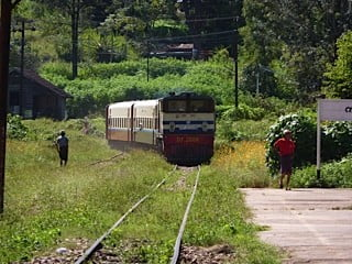 Our Kalaw to Heho train - 3 hours of very rickety rolling fun!