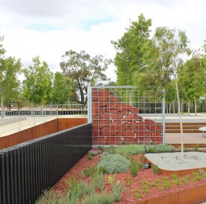Australian Garden Stage 2  Backyard Garden Gabion Screen