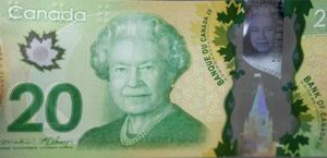 Canadian banknote