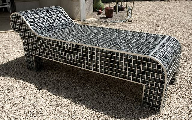 Chaise gabion by Celeste Roberge