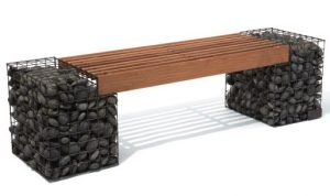 Gabion bench by Ore Containers, Utah