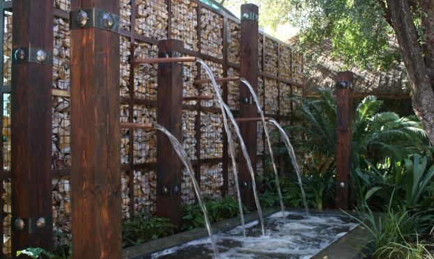 Gabion water feature wall Badec Bros Deco, Pretoria, SA