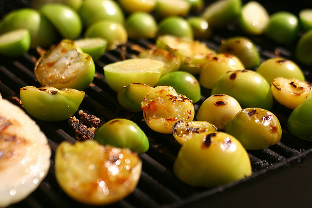 Grilled tomatillos by sporkist