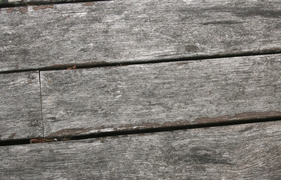 Our back deck had remnants of dark stain & was dry and splintery