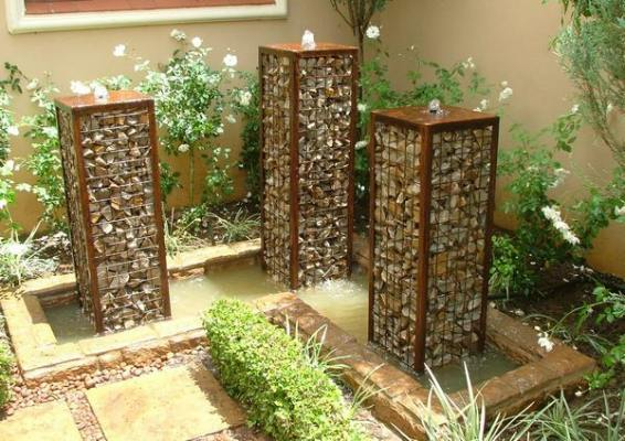 Garden water feature by Gabion1