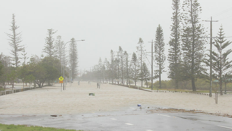 Cleveland Point, SE Qld flooding from Cyclone Oswald