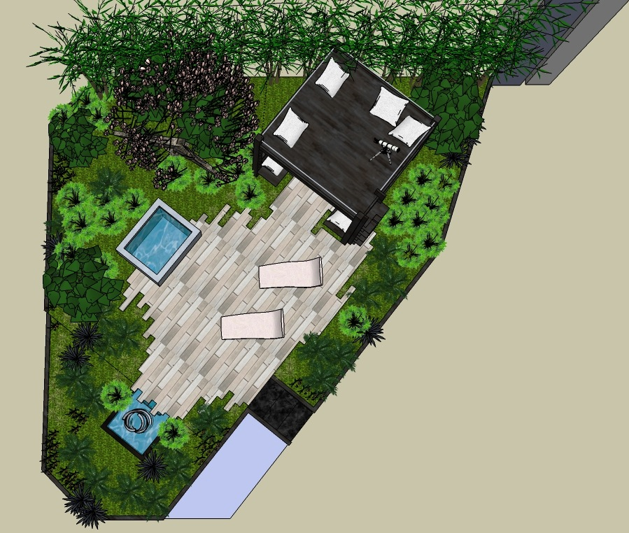 Sublime Garden Design Living Among the Stars plan view