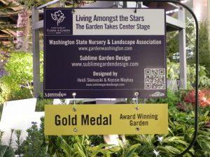 Sublime Garden Design Gold medal at Northwest Show 2013
