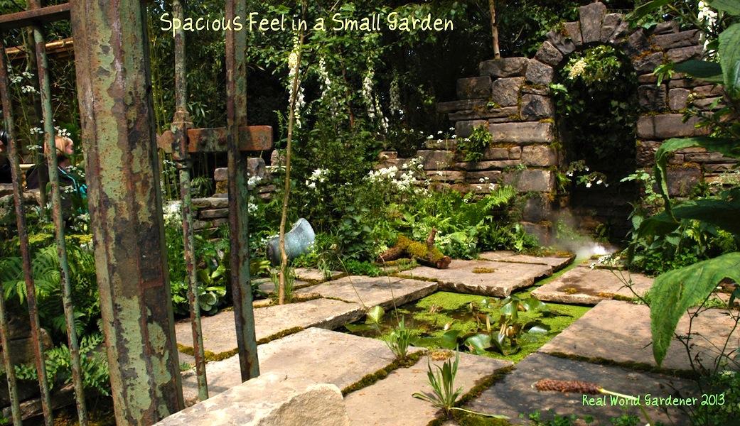 1. spacious small garden