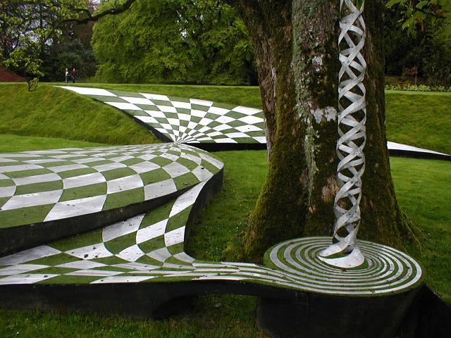 Dizzying geometric shapes at The Garden of Cosmic Speculation