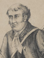 Gregory Blaxland Esq, by and unknown artist, pencil drawing