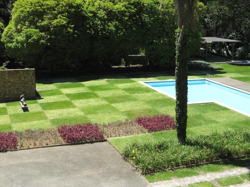 Burle Marx Edmundo Cavanelas garden checkerboard lawn