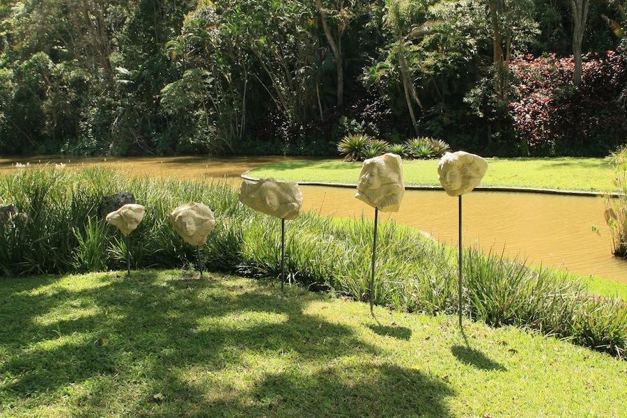 Burle Marx Edmundo Cavanelas garden pond