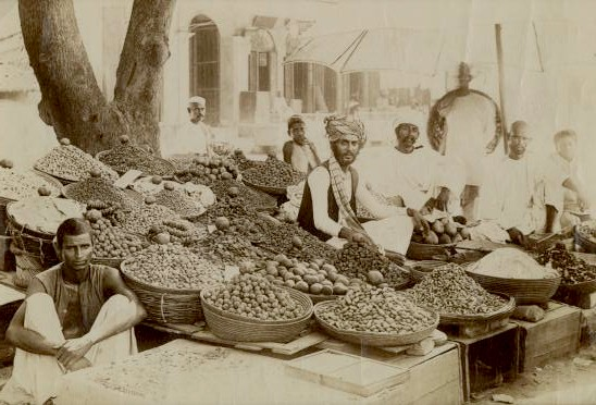 Indian spice market, c1875. Image from 19cphoto.com