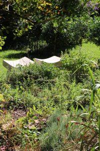 My round herb garden