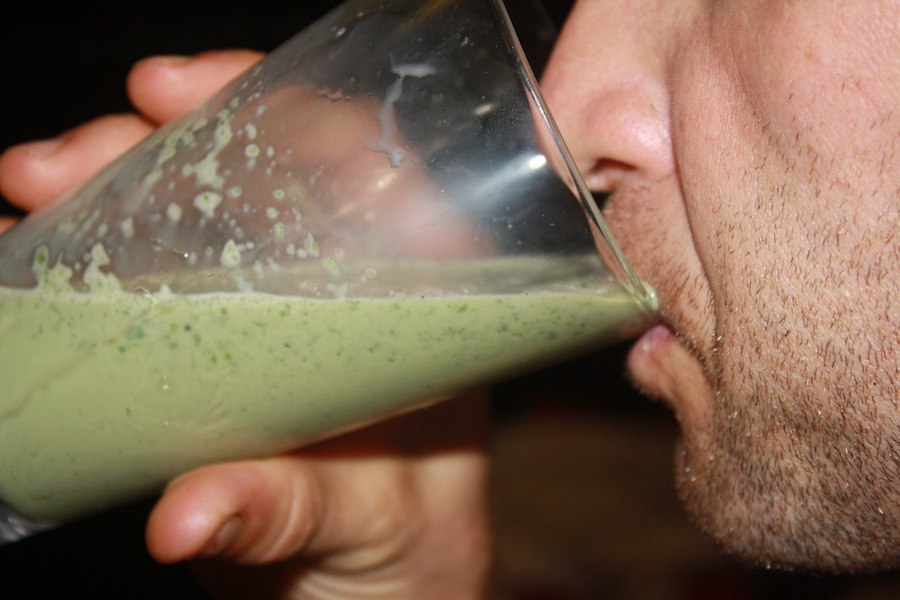 Yummy - a kale smoothie