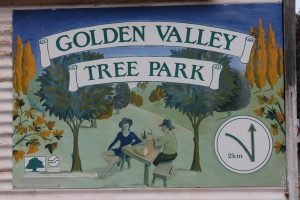 Golden Valley Tree park sign