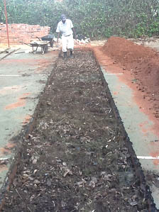 Compost enriched soil added