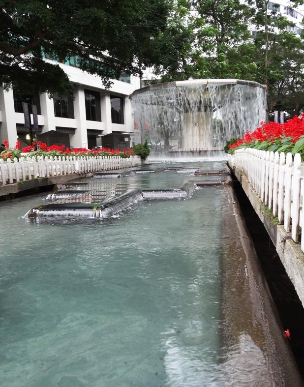 Hong Kong Park water fountain