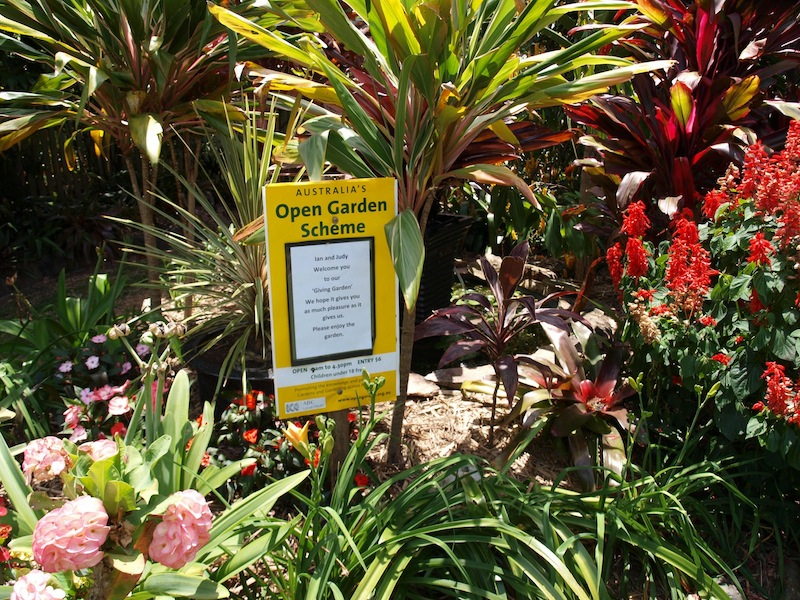Open Gardens Australia provides signs and all-important insurance cover