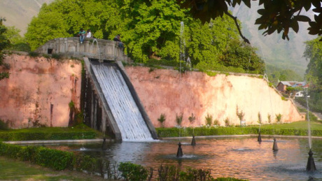 One of the water chutes at Nishat Bagh.