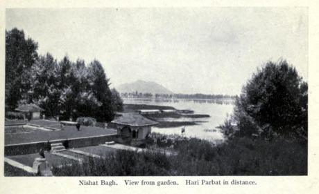 Nishat Bagh in 1920. All vintage images are from www.searchkashmir.org