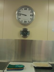 Large kitchen timer in Wellington Pt State School, keeps students on task