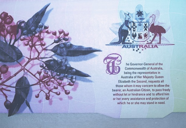 Australian passport eucalypts