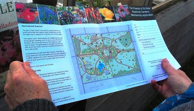 Layout of St Kilda Botanical Gardens