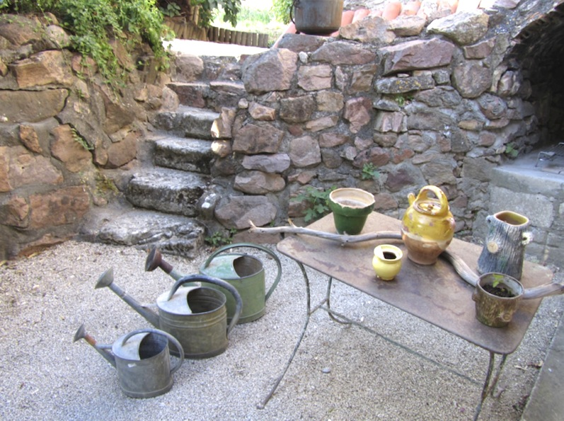 The lower garden beside the house