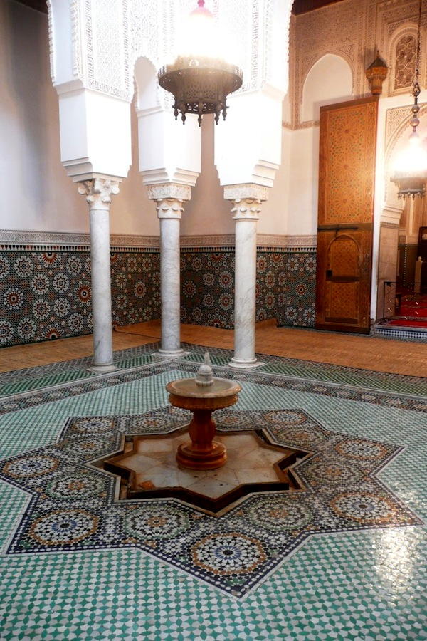 Fountain in the Mausoleum of Moulay Ismail