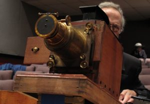 Glass Lantern Slide projector courtesy Bob Kronbauer