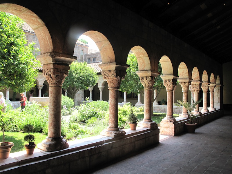 Herb garden in The Cloisters courtyard