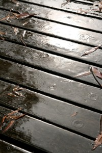 rain on the back deck