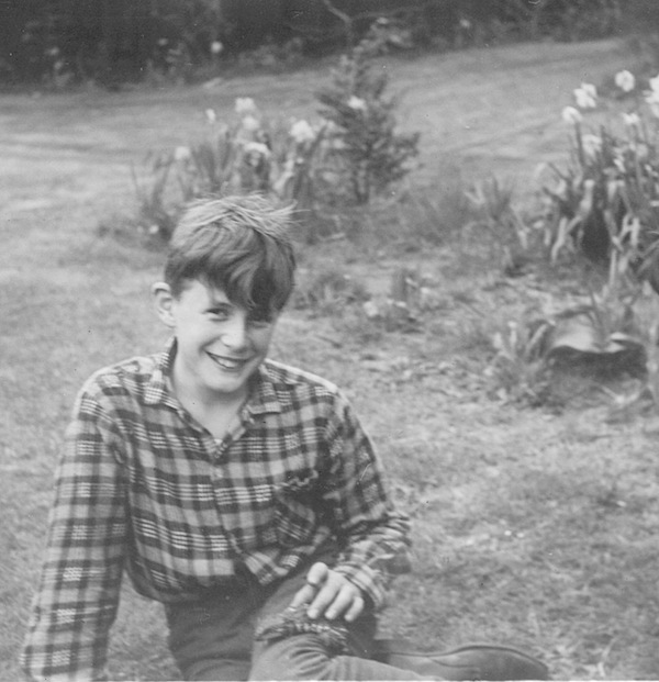 Me as a young boy - with lizard