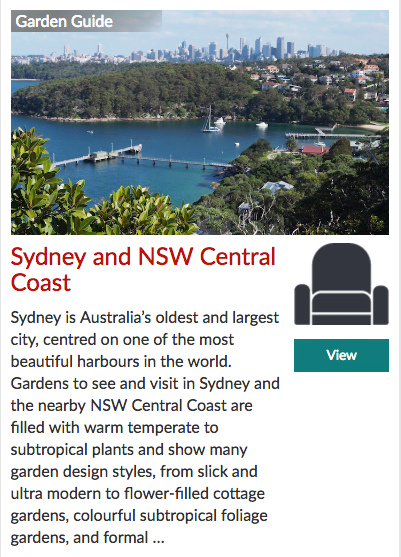 Garden Travel Guide to Sydney and NSW Central Coast