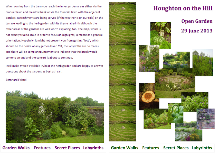 Houghton on the Hill flyer
