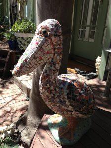 Mosaic pelican at Chelsea