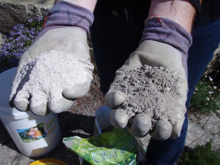 Sand Remedy (left) and Soil Solver (right)