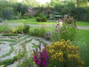 Herb garden at end August postcard