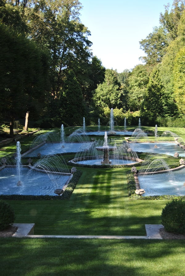 A sample of the water fountains at Longwood Gardens