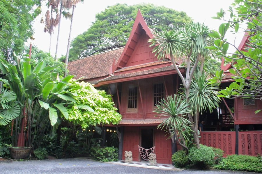 The Thompson house was constructed by amalgamating 4 traditional Thai houses