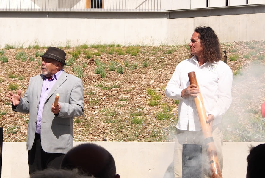 Elder Uncle Greg and Clarence Slockee Smoking Ceremony