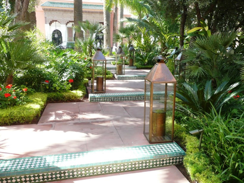 Hotel La Mamounia Inviting entrance path
