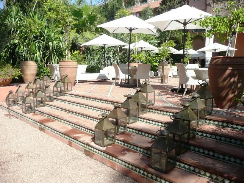 Hotel La Mamounia Sunny terrace