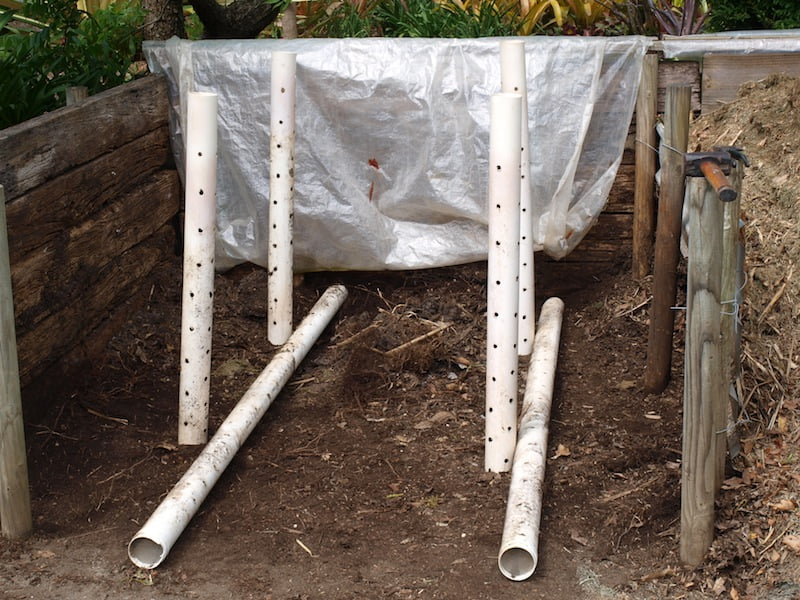 Starting of a new heap with 90mm stormwater pipes