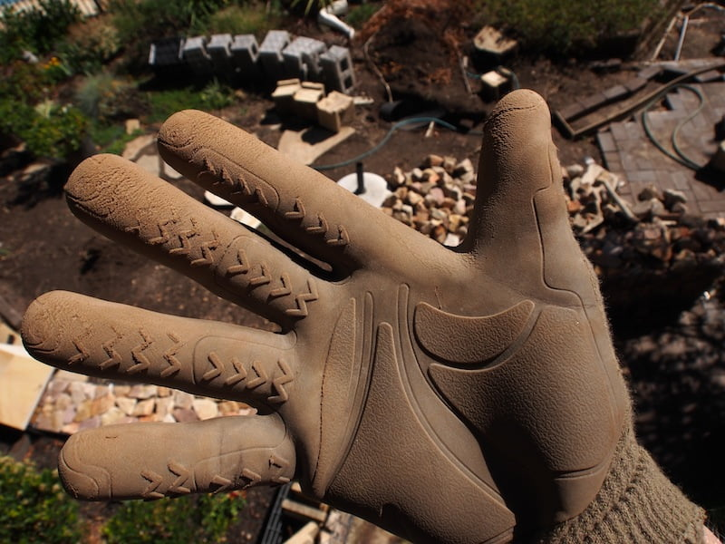 The toughest glove for landscaping rock and concrete work